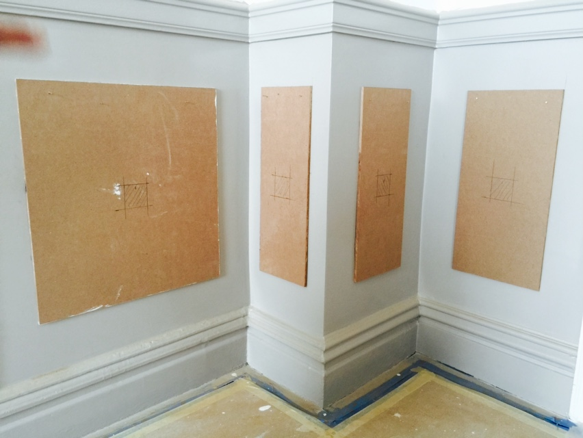 Wall trim ideas faux wainscoting in a nyc dining room for Dining room wall molding ideas